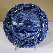 "19th Century Staffordshire Plate, ""Nahant Hotel nr Boston"""
