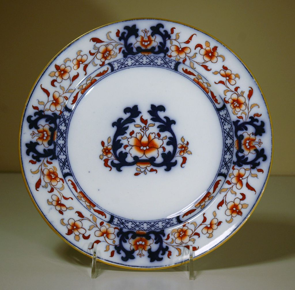 19th Century Blue amp White Minton Ironstone Plate From