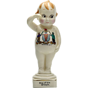 Royal Staffordshire Saluting China Kewpie Doll C. 1918