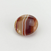 Vintage Agate Stud Button