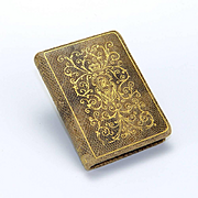 Vintage Racquel Book Shaped Compact