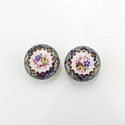 Beautiful Pair of Enamel Cuff Buttons