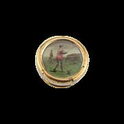 Vintage Cuff Button or Stud of a Golfer