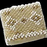 Antique Circa 1820 Tiny Beaded Silk Pincushion