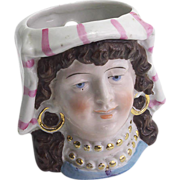 Interesting Vintage China Doll Head Novelty