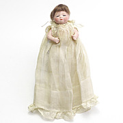 Antique All Bisque Bye Lo Baby Sleep Eyes, Wig