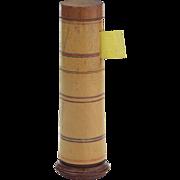 Antique Georgian Treen Tape Measure-Spool Holder