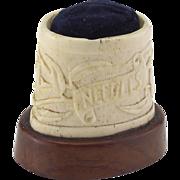 Vintage Bone Carved Pincushion