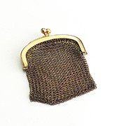 Vintage Gold Plated Miniature Mesh Purse