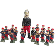 Vintage Set of Papier Mache Toy Soldiers