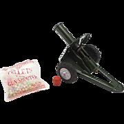 Vintage Japanese Tin Cork Shooting Cannon