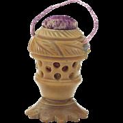 Vintage Vegetable Ivory Pincushion