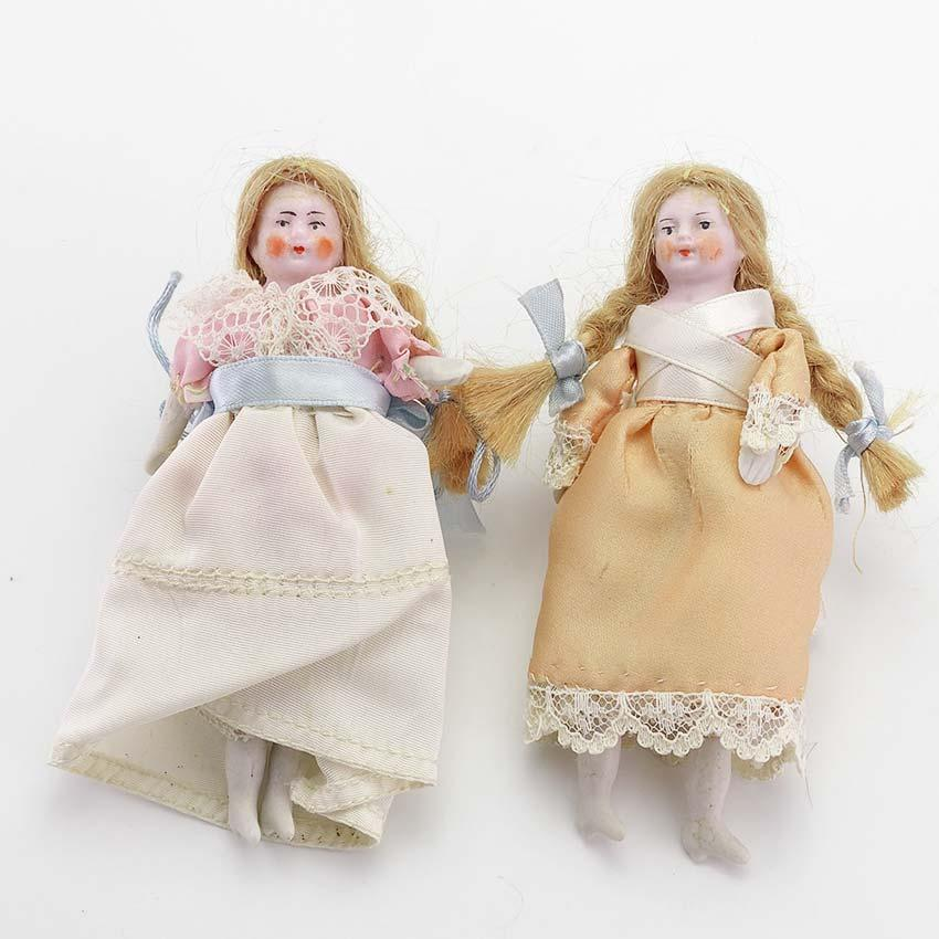 Dollhouse Miniatures Victoria Bc: Pair Of Antique Bisque Dollhouse Dolls From Vininghill On