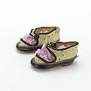 Vintage Pair of German Doll Shoes
