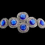 Vintage Large Jeweled Hat or Belt Ornament