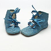 Lovely Vintage Pair of Silk Baby or Doll Slippers