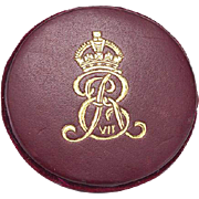 Edwardian Red Leather Pin Wheel with Royal Logo