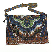 Vintage Steel Beaded Art Nouveau Purse Handbag