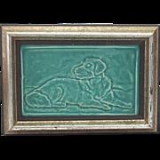 Vintage American Art Tile of a Dog by Tyge Tile
