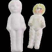 Antique Tiny All Bisque Dolls