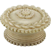 vintage Vegetable Ivory Vinaigrette Box