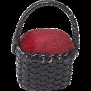 Vintage Basket Pincushion Purse Doll Accessory