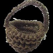 Vintage Miniature Basket Doll Accessory