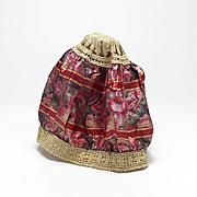 Vintage Silk Boudoir Cap