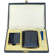Vintage Deco Cigarette Set IOB