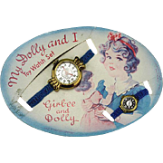 Vintage Dolly Watch On Original Card