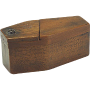 Vintage Coffin Shaped Wooden Puzzle