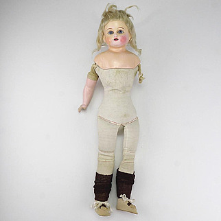 Antique Schilling Composition Doll-As Is