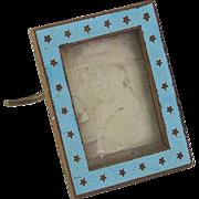 Vintage Doll House Enamel Picture Frame