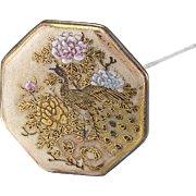 Vintage Peacock Satsuma Hat Pin