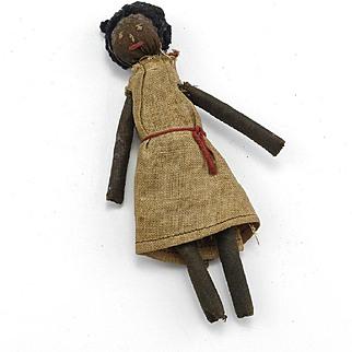 Interesting Vintage Black Cloth Doll