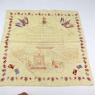 Vintage Military Handkerchief