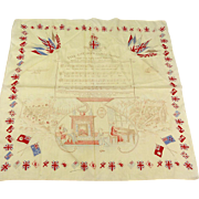 Vintage Military Handkerchief