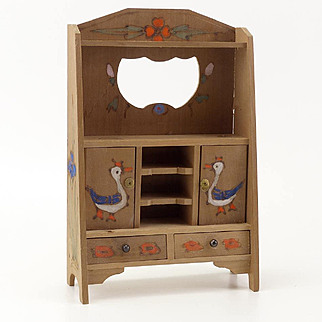 Vintage Doll House Wooden Hutch