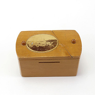 Interesting Antique Mauchlime Ware Puzzle Bank