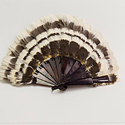 Vintage Celluloid and Feather Fan
