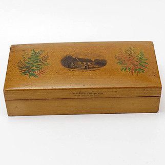 Vintage Mauchline and Fernware Sewing Box