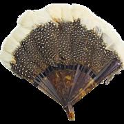 Vintage Feather Large Doll  Fan