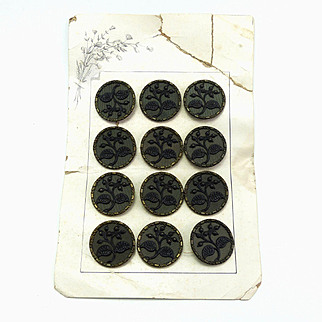Card of Vintage Floral Picture Buttons