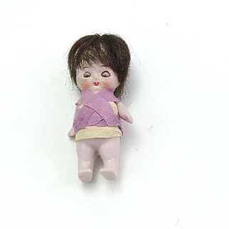 Antique Small All Bisque Character Doll