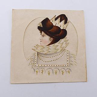 Antique Georgian Paper Doll Overlay Metamorphosis Circa 1810