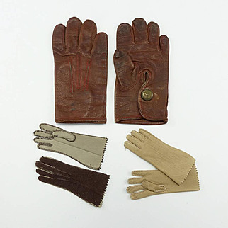 Group of 8 Antique Doll Gloves