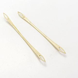 Vintage Pair of Bone Netting Tools