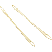 Vintage Pair of Bone Netting Tools