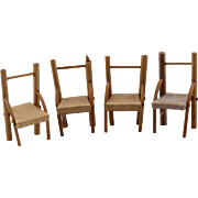 Set of Antique Doll House Chairs