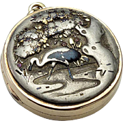 Antique Gold, Silver and Shakudo Locket